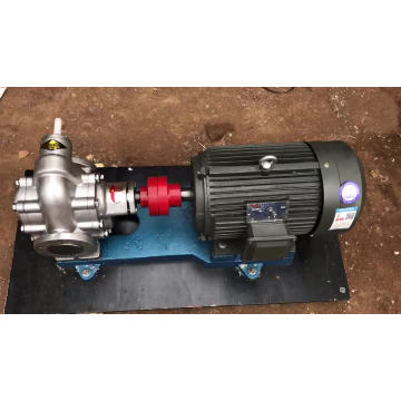 External gear driven lubrication system oil pump