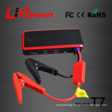 Newest car emergency kit 12000mAh lithium ion car battery jump starter with emergency lamp