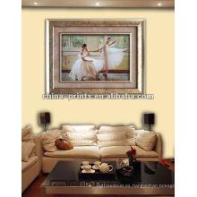 Lona de la pintura al óleo del bailarín de ballet