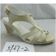 Fashion Classical Chuncky Heel Ladies Sandals (HSO-018)