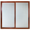 Aluminium Sliding Door with Automatic or Manual Blinds