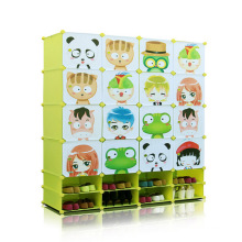 Cartoon DIY Plastic Storage Cabinets with Shoe Cabinets (ZH001-10)