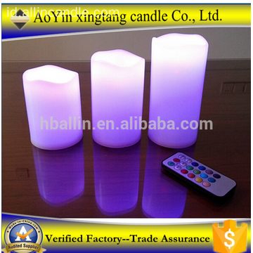 3 buah Amber Flickering Light Api LED Lilin