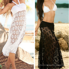 2015 Sexy Cover up Halter Lace Beach Dress (50039)