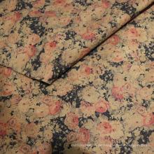 Retrostyle Printing Suede Stoffe für Kleidungsstücke