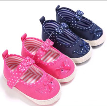 Best selling Kid shoes baby girls Cute pink bow-knot outdoor shoes new design fashion flat blue soft Dot casual child shoes Best selling Kid shoes baby girls Cute pink bow-knot outdoor shoes new design fashion flat blue soft Dot casual child shoes