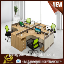 4 person UK STYLE WORKSTATION with partition