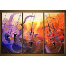 Pintura al óleo abstracta enmarcada hecha a mano (XD3-210)