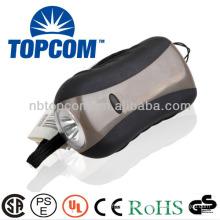 1 led hand crank dynamo lamp with plastic flashlight TP-PH003