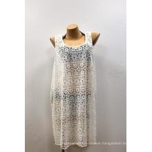 White Chiffon Slit Coverups Women Long Elegant Beach Dresses