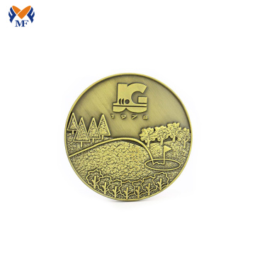 Custom made embossed gold coins promosi