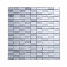 Soulscrafts Glass Mosaic Mini Brick Silver Diamond Mirror Stained Mosaic Tiles
