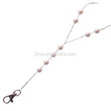 Sundysh Pearl Lanyard, Fashion Einfache Lariat Weiße Perle Perlen Lanyard Für ID Card Badge Holder