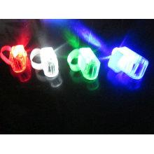 luz do fulgor do dedo do laser