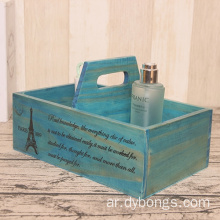 The storage box is decorated with a chic French design