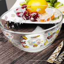Haonai clear glass mixing bowl salad bowl fruit bowl with carton design