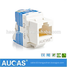 2016 Wholesale High Quality Custom UTP Cat6 RJ45 Tool-less Keystone Jack For Lan Cable Connection