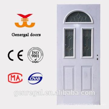 French Design heat isolated wood PU foam Steel Door