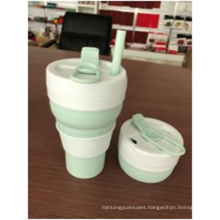 600mL Foldable Solid Color Silicone Cup