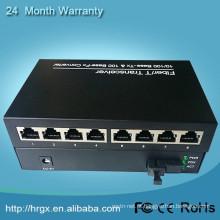 www.aliexpress.com 10 / 100M 20km sm sf 1 fibra 8 rj45 porta em equipamentos de fibra óptica