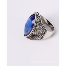 Fashion Jewelry Anti-Rhodium Plated with Blue Glass Stone