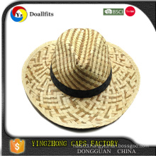 Fashion style wholesale straw hats with flower/ribbon