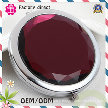 Gift Store Souvenirs Round Type Artificial Stone Make up Mirror