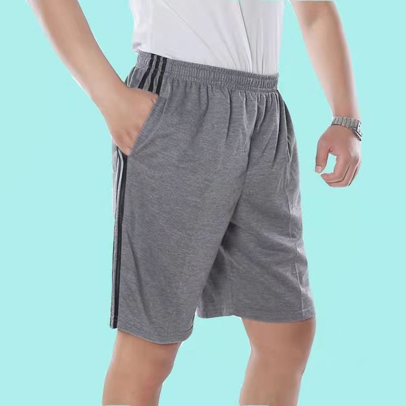 Men's Cvc Sports Shorts Elastic Waist