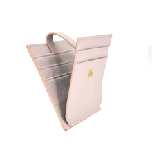 Pu Saffiano Leather Credit Card Holder with Zipper