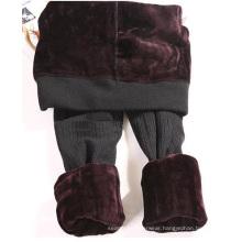 Womens Pattern Thick Velvet Seamless Leggings In Winter