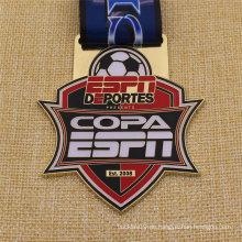 Bespoke Metal Antique Finish Fußball Fußball Medaille