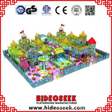 Castle Theme Kinder Indoor Spielgeräte mit Rutschen
