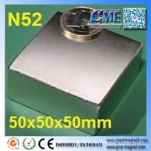 Imán fuerte del neodimio del imán N52 de la tierra rara