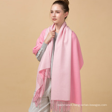 High quality new design fashion personalized winter hot sale solid two colors wool scarf