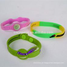 Pulseira de Silicone promocionais, pulseira de silicone ajustável, pulseira