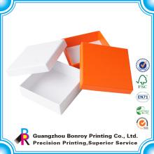 Tapa personalizada de alta calidad y papel de base Mini cajas cuadradas de regalo de impresión