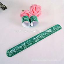 fluorescencia de PVC snap wristband de la pulsera para fiesta