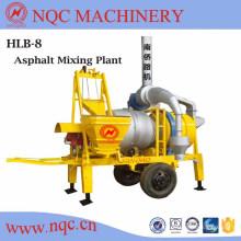 Planta mezcladora de asfalto móvil serie Hlb, 10/08/20/30 T / H