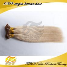 I Nail Keratin Tip Remy Human Hair Extensions Blonde Virgin Hair I Tip Hair Extensions