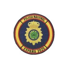 Chaqueta militar con parches bordados del ejército