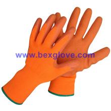 13 Gauge Acrylic Liner, Brushed, Latex Coating, Crinkle Finish Glove