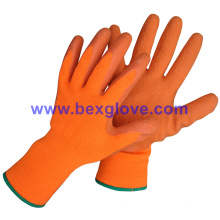 13 Gauge Acrylic Liner, Brushed, Latex Coating, Crinkle Finish Glove
