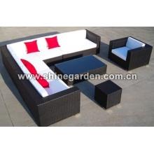 Outdoor Patio-Möbel 8 Stück Chat Set-Sofa Möbel