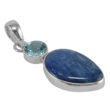 Pingente de prata esterlina 925 de pedras preciosas de Kyanite