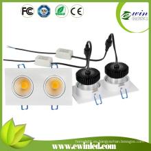 Downlights empotrables LED 900-1100lm de alta potencia para la tienda