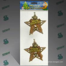 10см золото пластиковый Рождественские украшения звезды