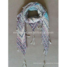 Хлопок квадратный pom pom tassel scarf