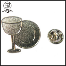 Wine cup silver badge pin