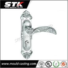 Manija de cerradura de puerta de fundición de molde de zinc de alta precisión en la placa