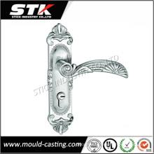 High Precision Zinc Mold Casting Door Lock Handle on Plate